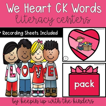 We Heart Ck Words Matching with Recording Sheets