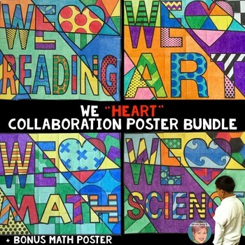 We Heart Collaboration Posters BUNDLE