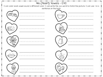 We {Heart} Vowels - Short and Long Sorts and Games