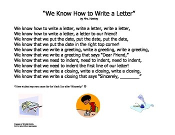"""""""We Know How to Write a Letter"""" Poem"""