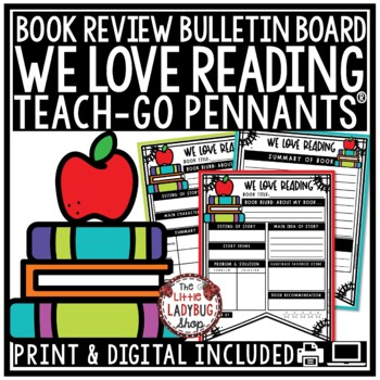 Book Review Template & Reading Graphic Organizer • Teach- Go Pennants™