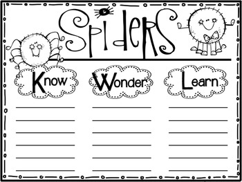 We Learn About....Bats & Spiders Freebie