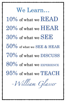 We Learn Poster
