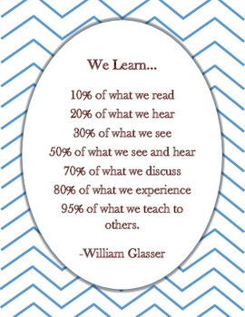 """We Learn..."" Poster with Chevron background"