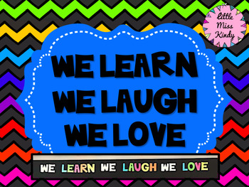 We Learn We Laugh We Love - Heading