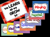 """""""We Learn as we Grow by... """" Inspirational Poster Set- beg"""
