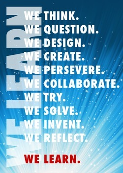 """""""We Learn"""" classroom poster"""