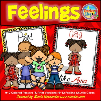 Feelings Posters and Shuffle Cards for Group Discussions