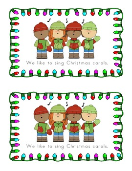 We Like Christmas: An Emergent Reader (Sight Word Focus: we, like, to)