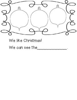 We Like Christmas Emergent Reader