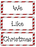 We Like Christmas Pocket Chart Cards