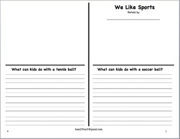 We Like Sports Retelling Book