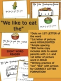 We Like Thanksgiving Dinner Emergent Reader:  sight words