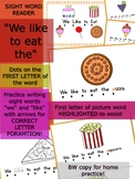 """We Like to Eat Emergent Reader - Sight Words """"We like to eat the"""""""