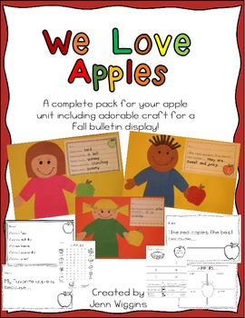 We Love Apples ~ A Complete Unit with Adorable Craft for B