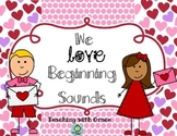 We Love Beginning Sounds: Valentine's Day word sort