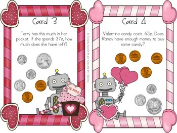 We Love Coins! A Valentine Seat Scoot for 2.MD.8