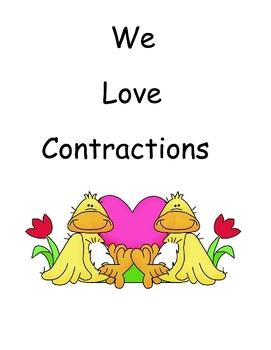We Love Contractions Activity