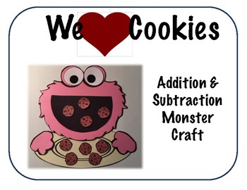 We Love Cookies Addition/Subtraction Craft