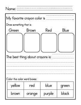 We Love Crayons-Freebie