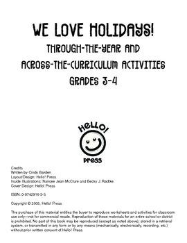 We Love Holidays! Grades 3-4