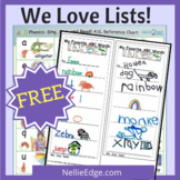 We Love Lists! Themed Papers, Lessons and Exemplars