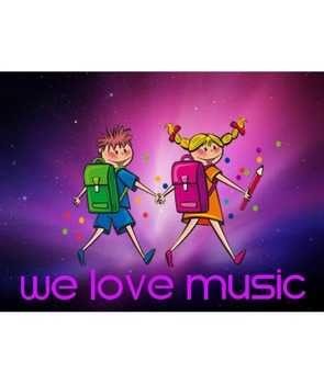 We Love Music Poster-kids