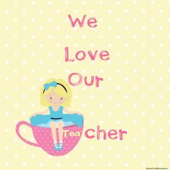 We Love Our Teacher (Blonde Hair) Class Book in Google Slides™
