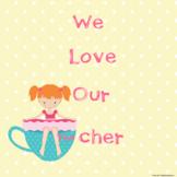 We Love Our Teacher( Red Hair) Class Book in Google Slides™