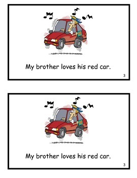We Love Red Cars! Guided Reader (-ed Word Family)