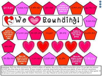 We Love Rounding - Valentine's Day Board Game