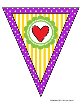 'We Love Second Grade' Banner or Bunting