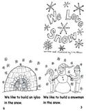 We Love Snow Emergent reader