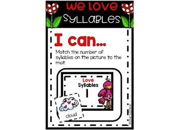We Love Syllables February Syllable Sort