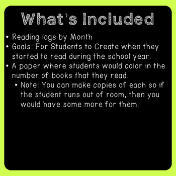 We Love To Read Monthly Reading Logs