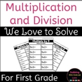 We Love To Solve: Multiplication Activity Pack