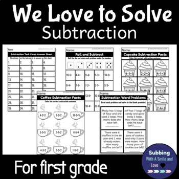 We Love To Solve: Subtraction Activity Pack