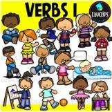 Verbs 1 Clip Art Bundle {Educlips Clipart}