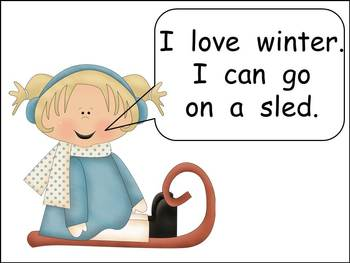 We Love Winter- Kindergarten Emergent Reader book