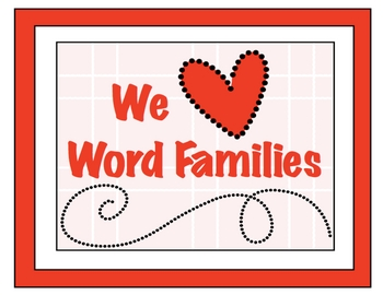 We Love Word Families