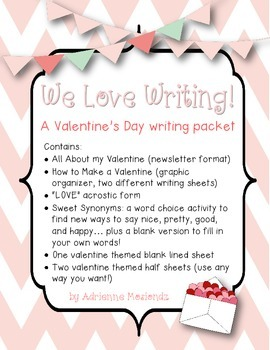 We Love Writing! (A Valentine's Day writing packet)