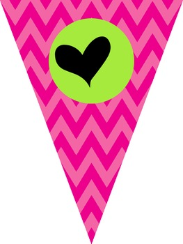 We Love __ Grade Banner (Grades 1-5) {Chevron}