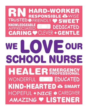 We Love our School Nurse Appreciation Art