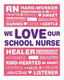 We Love our School Nurse Appreciation Art