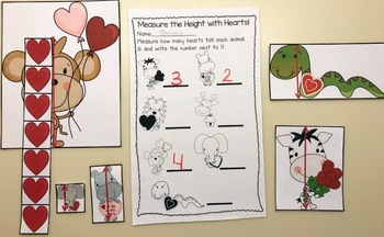 We Love to Measure! A Valentine Themed Common Core Aligned Measurement Pack!