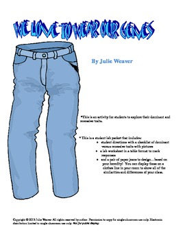 """We Love to Wear Our """"Genes"""" Jeans- Dominant and Recessive Genes"""