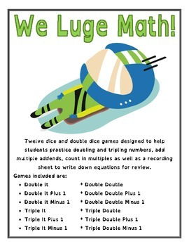 We Luge Math! - Winter Olympics Math Games