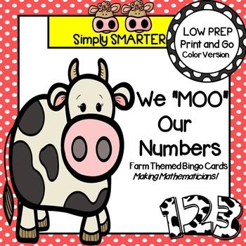 LOW PREP Farm Themed Number Identification (1-35) Bingo