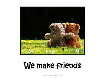 We Make Friends Teddy Poster
