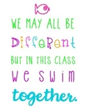 We May All Be Different Neon Quote Subway Art - Freebie!